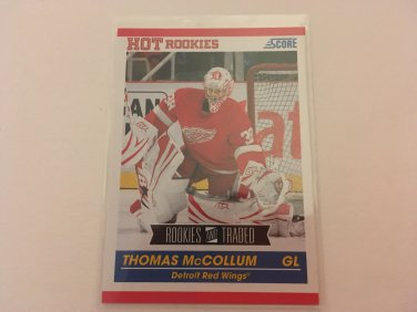 Thomas McCollum 2011/12 Score Detroit Red Wings Rookie and Traded Rookie RC Hockey Card #619