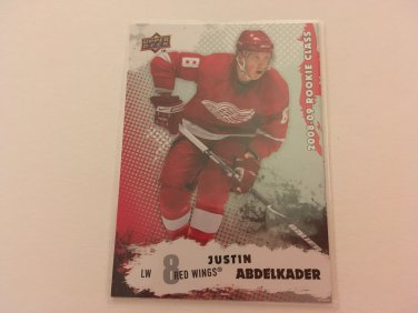 Justin Abdelkader 2008/09 Detroit Red Wings Upperdeck Rookie Class RC Hockey Card #14