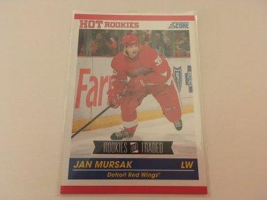 Jan Mursak 2011/12 Score Detroit Red Wings Rookie and Traded Rookie RC Hockey Card #622