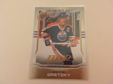 Wayne Gretzky 2014/15 Upperdeck MVP Edmonton Oilers Hockey Checklist Card #300