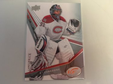 Carey Price 2008/09 Upperdeck Ice Montreal Canadiens Hockey Card #12