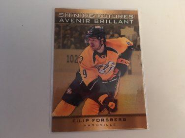 Filip Forsberg 2015/16 Tim Hortons Nashville Predators Shining Futures INSERT Hockey Card #SF-8