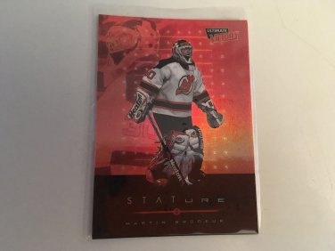 Martin Brodeur 1999/00 Upperdeck Ultimate Victory New Jersey Devils Stature INSERT Hockey Card #S7