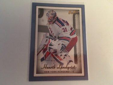 Henrik Lundqvist 2006/07 Beehive Blue New York Rangers  Hockey Card #37