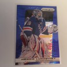 Henrik Lundqvist 2013/14 Panini Prism Blue New York Rangers BLUE INSERT Hockey Card #60