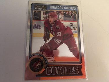 Brandon Gormley 2014/15 O-Pee-Chee Platinum Pheonix Coyotes Rookie RC Hockey Card #162