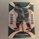 Marc Edouard Vlasic 2006/07 Upperdeck Mini Jersey San Jose Sharks Rookie RC Hockey Card #113