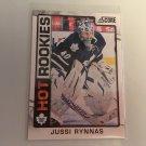 Jussi Rynnas 2012/13 Panini Score Toronto Maple Leafs HOT Rookie RC Hockey Card # 524