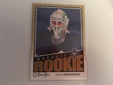 Jonas Gustavsson 2009/10 O-Pee-Chee Marquee Toronto Maple Leafs Rookie RC Hockey Card # 796