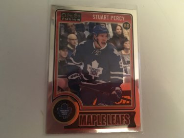 Stuart Percy 2009/10 O-Pee-Chee Platnium Toronto Maple Leafs Rookie RC Hockey Card # 156