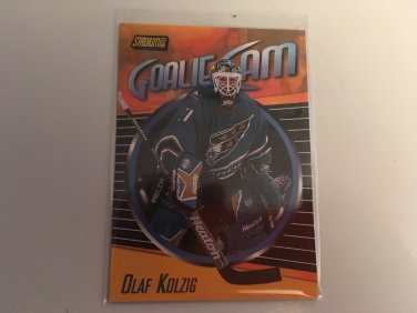 Olaf Kolzig 2000/01 Topps Stadium Club Washington Capitals Goalie Cam INSERT Hockey Card #GC4