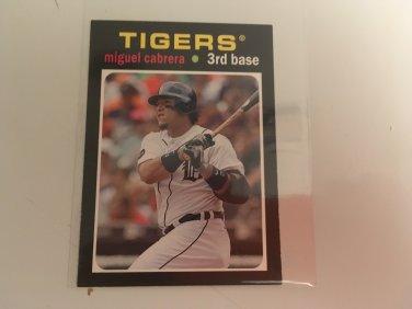 Miguel Cabrera 2013 Topps Mini Insert Detroit Tigers Baseball Card # TM-6