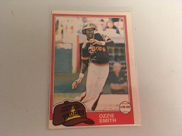 Ozzie Smith 1981 O-Pee-Chee San Diego Padres Baseball Card # 254