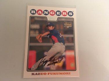 Kazuo Fukumori 2008 Topps Rookie RC Baseball Card # 482