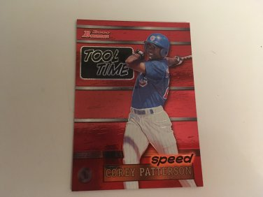 Corey Patterson 2000 Bowman Chicago Cubs Tool Time INSERT Baseball Card # TT12
