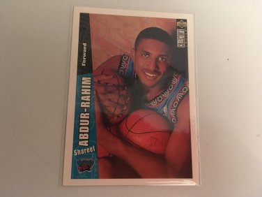 Shareef Abdur Rahim 1996/97 Upperdeck CC Vancouver Grizzlies Rookie RC Basketball Card # 346