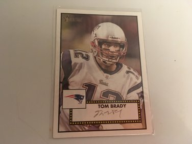 Tom Brady 2006 Topps Heritage New England Patriots Football Card # 124