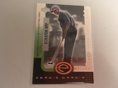 Sergio Garcia 2001 Upperdeck E-Card INSERT Rookie RC Golf Card # E-SG