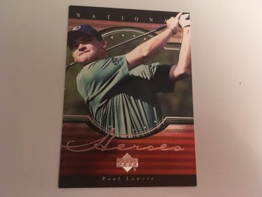 Paul Laurie 2001 Upperdeck Heroes INSERT Golf Card # NH9