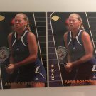 Anna Kournikova 2003 EDGE Woman's Rookie RC Tennis Card #AK4