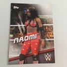 Naomi 2016 Topps Woman's Diva Revolution WWE Wrestling Card #27