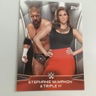 Stephanie Mcmahon, Triple H 2016 Topps Woman's Diva Revolution POWER COUPLES WWE Wrestling Card #2