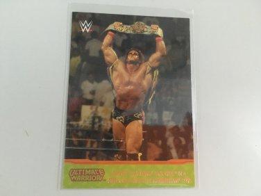 Ultimate Warrior 2014 Topps Champion Spotlight INSERT WWE Wrestling Card #5 of 10