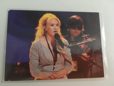 Carrie Underwood 2007 Season 6 American Idol Celebrity TV Reality Music Show Card #19