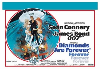 James Bond - Diamonds Are Forever Movie Poster