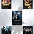 Harry Potter I, II, III, IV, V Movie Poster Set