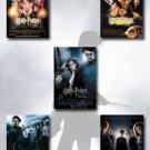 Harry Potter I, II, III, IV, V Movie Poster Set