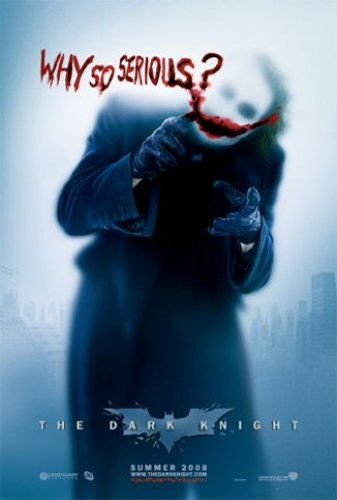 Batman - The Dark Night Movie Poster (Why So Serious?) Style 2