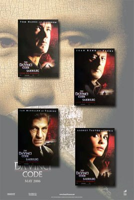 The Da Vinci Code Movie Poster Set (German) (4)