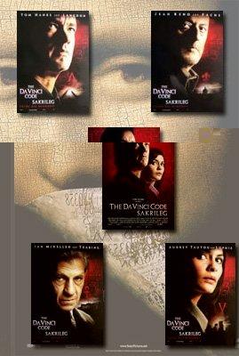 The Da Vinci Code Movie Poster Set (German) (5)