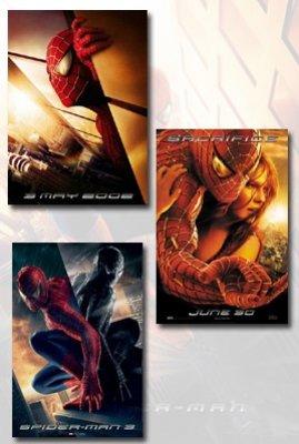 Spider-Man 1, 2, & 3 Movie Poster Set (3)