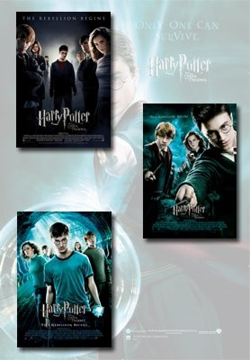 Harry Potter And The Order Of The Phoenix Movie Poster Set