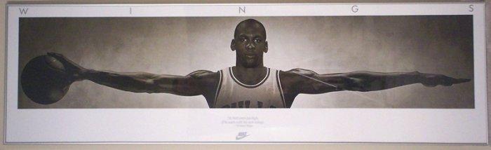 Michael Jordan Wings Poster - FRAMED