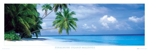 Fihalhohi Island - The Maldives Door Poster