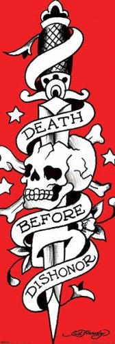 Death Before Dishonor - Ed Hardy Door Poster