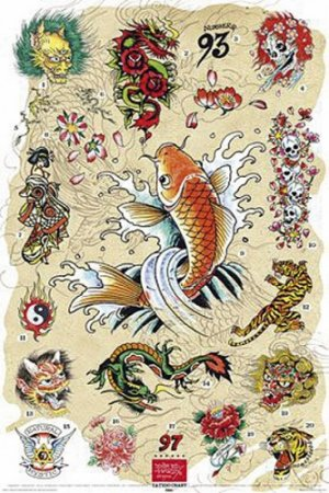 Tattoo Art Collage - Ed Hardy Poster