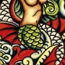 Mermaid - Ed Hardy Mini Door Poster
