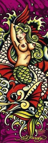 Mermaid - Ed Hardy Mini Door Poster