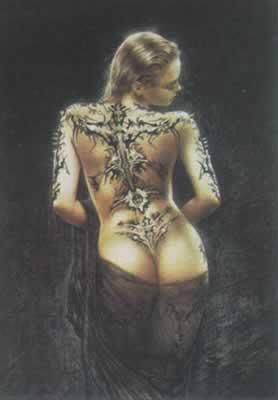 Tattoo Girl - Luis Royo Poster