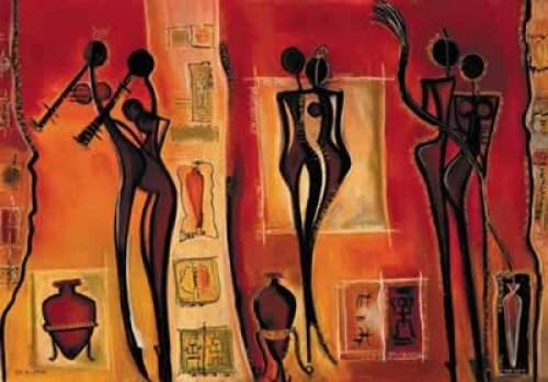 African Style Art Poster