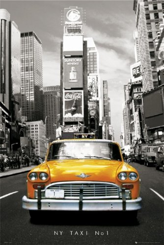NY Yellow Tax No 1 - New York Times Square Poster