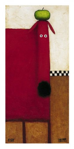 Red Dog ll - Daniel Patrick Kessler Art Print