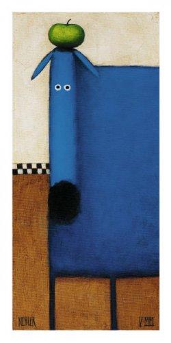 Blue Dog ll - Daniel Patrick Kessler Art Print