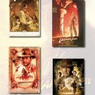 Indiana Jones I, II, III, IV Movie Poster Set