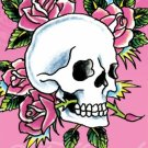 Ed Hardy Poster - Pink Skull & Roses