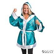 Teal Ribbon Boxing Robe